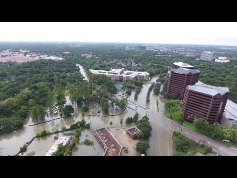 Hurricane Harvey Houston Flooding Drone Footage 4K HD