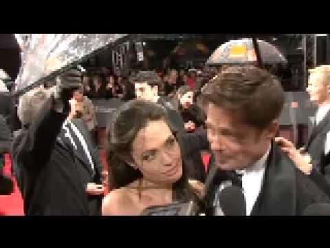 Brad Pitt and Angelina Jolie at the BAFTAs 2009