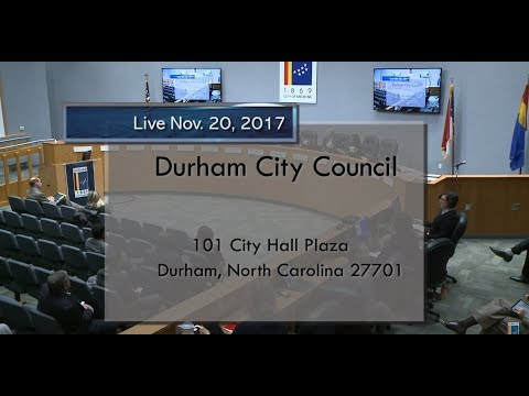 Durham City Council Nov 20, 2017