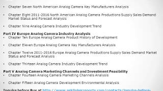 Analog Camera Market 2016-2020 Industry Trends, Growth, Forecast and Analysis Report