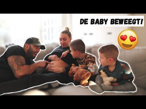 DE BABY VOOR HET EERST VOELEN BEWEGEN! | VLOG #243