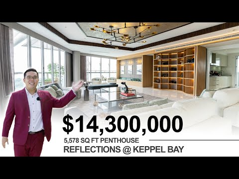Inside a $14.3M Penthouse w Panoramic Seaview | Reflections at Keppel Bay | Singapore Property Tour