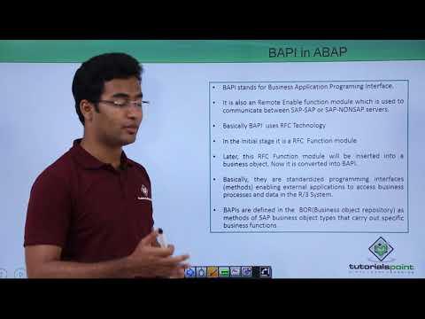 SAP ABAP - BAPI - YouTube