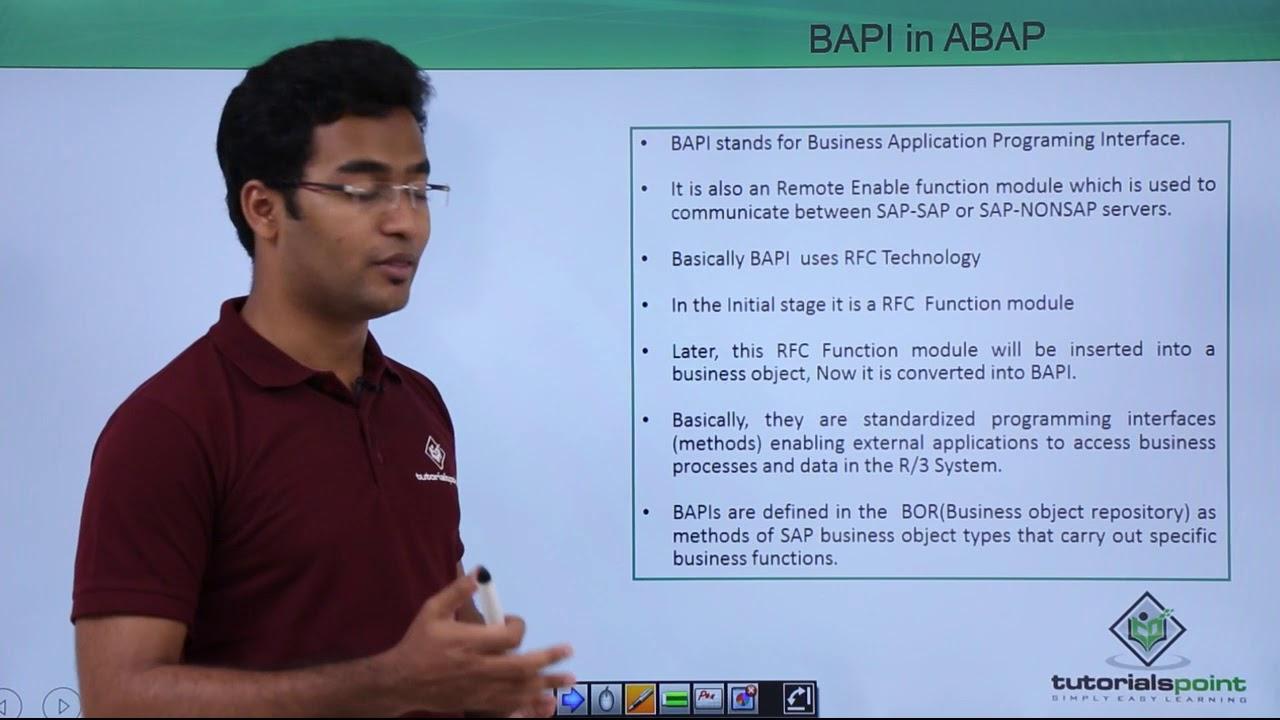 SAP ABAP - BAPI