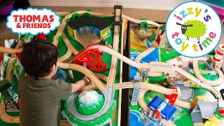 thomas and friends   thomas train double table with trackmaster   fun toy trains for kids