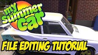 mY SUMMER CAR TUTORIAL - Cheats, Editing Files, Importing Saves, Infinite Money, Custom Paint