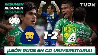 Resumen y Goles | Pumas 1 - 2 León | Liga Mx - AP 19 - J14 | TUDN