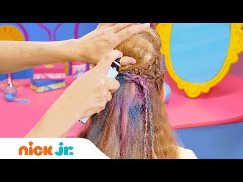 How to Make a Rock Star Hairdo 👩🎤 Style Files Hair Tutorial | Sunny Day | Nick Jr.