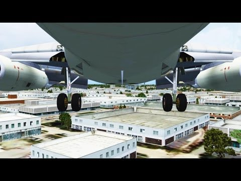 FSX Air France Boeing 737 Landing @ Chicago ( Gear ) ( HD )