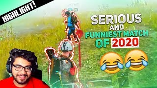 MY MOST SERIOUS \u0026 FUNNIEST GAME OF 2020! 😍😂 || PUBG MOBILE FUNNY HIGHLIGHTS!