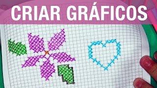 Como criar GRÁFICOS de ponto cruz
