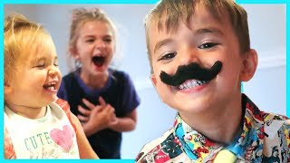 THREE YEAR OLD GROWS A MUSTACHE!