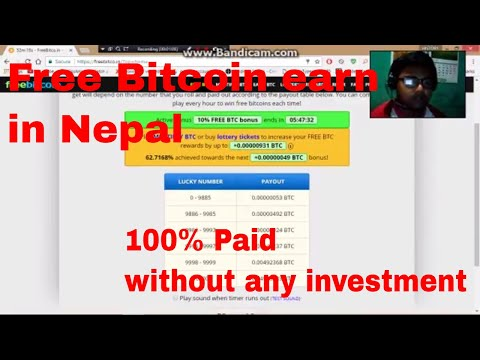Free Bitcoin Earn In Nepal Without any Investment