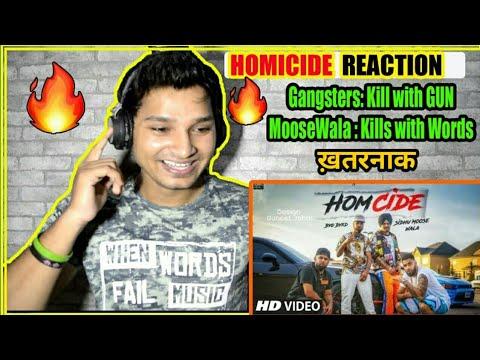 Homicide Reaction Video Sidhu Moose Wala | Big Boi Deep | SIDHU MOOSE WALA HOMICIDE REACTION VIDEO