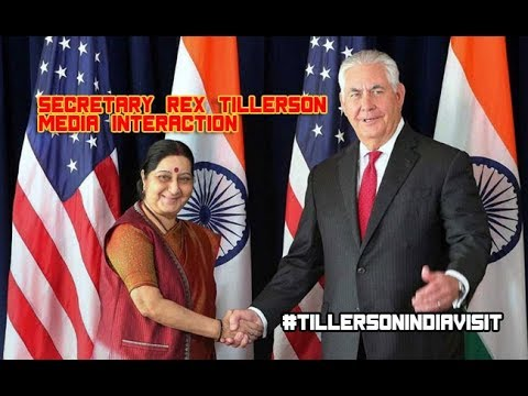 Joint Press Statement of Secretary of State, USA, Rex Tillerson  & EAM Sushma Swaraj