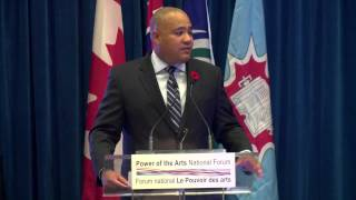 Remarks by the Hon. Michael Coteau, Ministry of Tourism, Culture and Sport/Minister Responsible for the 2015 Pan/Parapan, at the 2014 Power of the Arts National. Register for the 2015 National Forum: http://bit.ly/1TyCVNQ