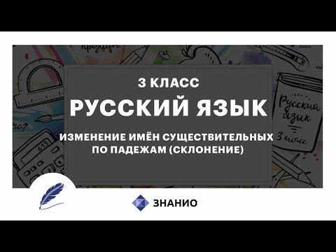 Русский язык | 3 класс | Изменение имен существительных по падежам (склонение) | Урок 17 | Знанио