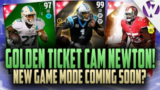 Madden 16 golden ticket cam newton!!! new game mode coming to madden?!?! mut salary cap