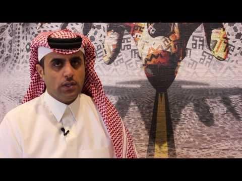 Abdulnasser Gharem discussing his work at Edge of Arabia, London, 2013