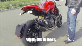 Ducati 1200 Monster 2014 - Complete / Full Exhaust Termignoni With & Without DB Killers