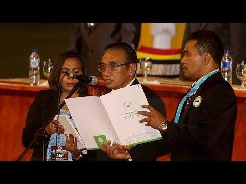Timor-Leste's Francisco Guterres sworn in as new president