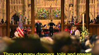 "Reagan Funeral ""Amazing Grace"" Ronan Tynan- HD with Subtitles"