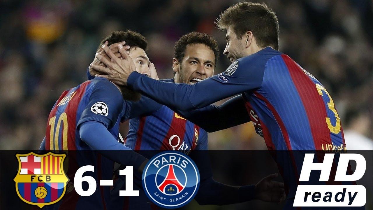 Barcelona vs PSG 6-1 All Goals & Extended Highlights - UCL ...