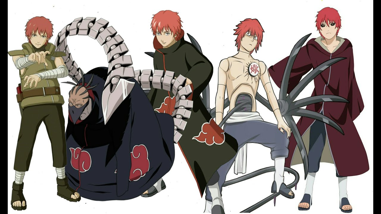 Naruto Character Evolution: Sasori Of The Red Sand - YouTube