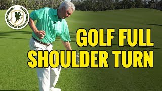 Improve Your Backswing - Full Shoulder Turn Drills For Golf