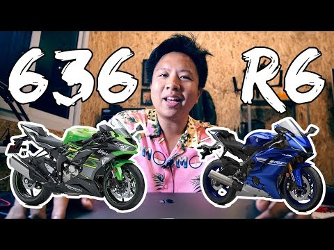 Kawasaki ZX6R 636 vs. Yamaha YZF R6 ซื้อคันไหนดี?