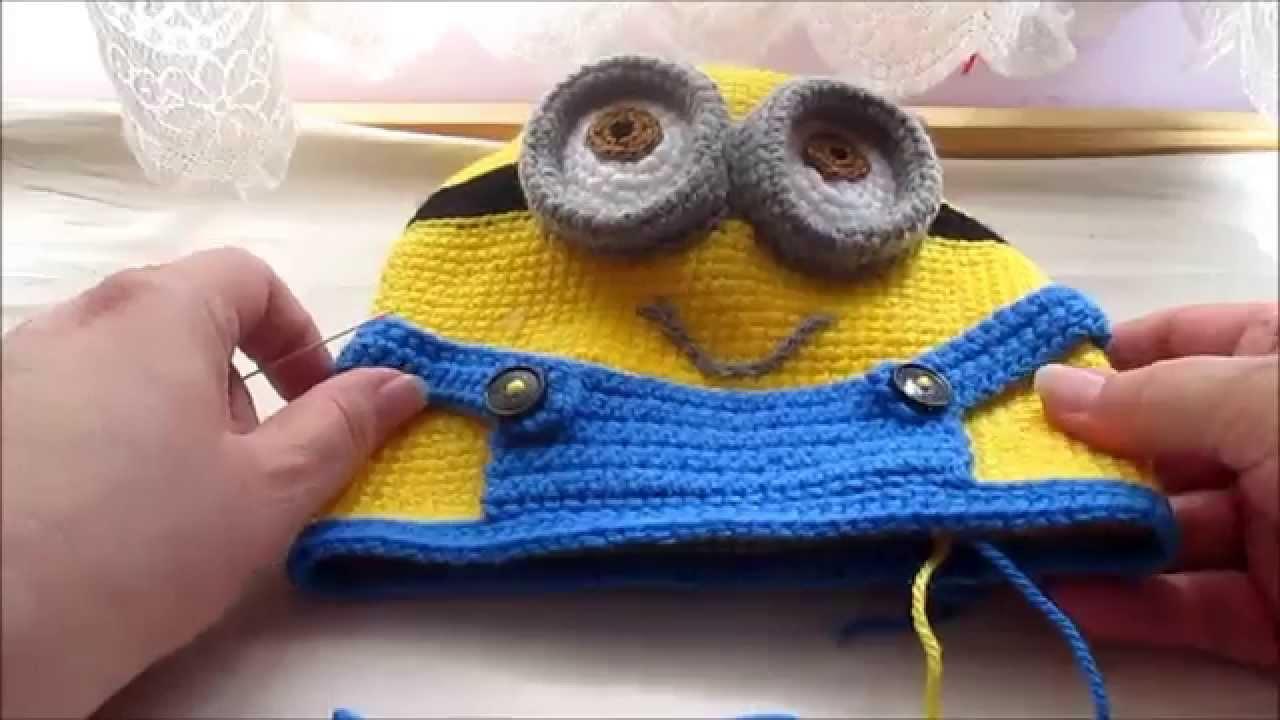 Mochila Amigurumi Minion : Amigurumi Minion part 5 body tutorial crochet - YouTube