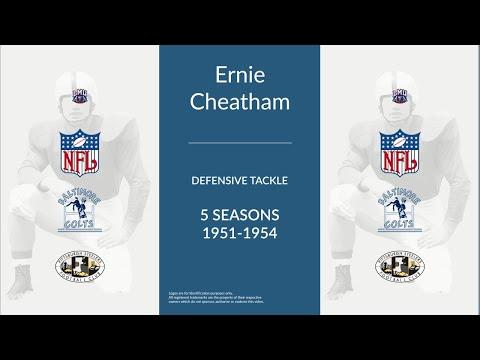 Ernie Cheatham: Football Defensive Tackle