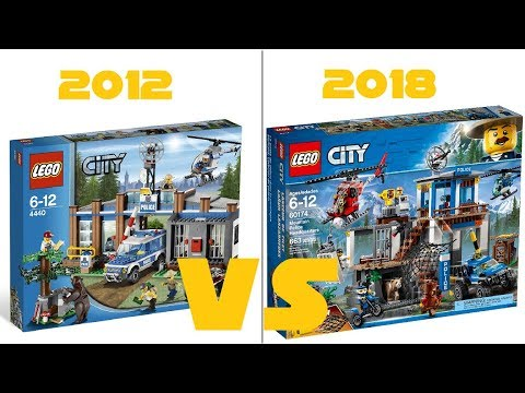 Lego City 4440 Forest Police Station Vs 60174 Mountain Police