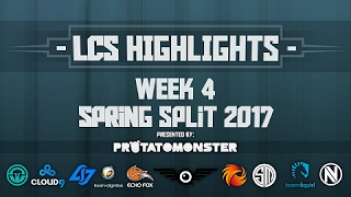 NA LCS Highlights | Week 4 Spring Split 2017 | Ft. Sneaky Baron Steal