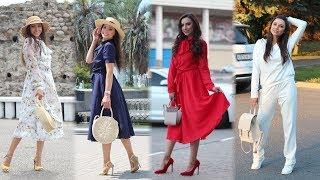 Модные  образы из лета в осень! Летящие платья и спорт  -шик!