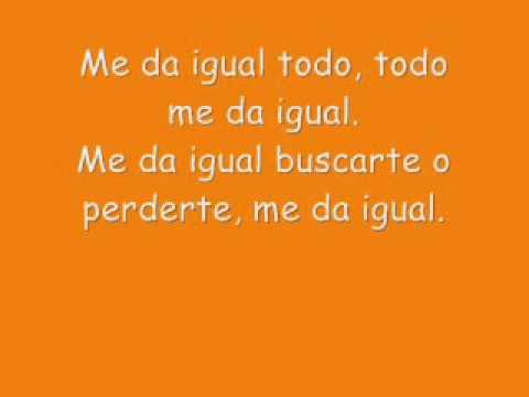 Erreway - Me da igual [lyrics]
