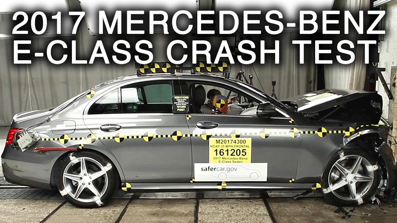 2017 mercedes benz e class frontal crash test youtube. Black Bedroom Furniture Sets. Home Design Ideas