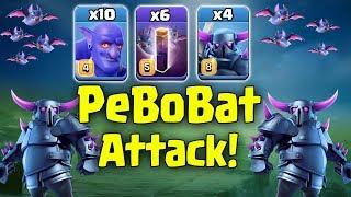 TH12 PeBoBat Attack Strategy 2019! 10 Bowler 6 Bat Spell 4 Pekka Destroy 3Star TH12 War Base