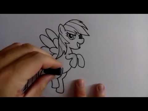 สอนวาดรูปการ์ตูน เรนโบว์แดช Rainbow Dash โดย วาดการ์ตูนกันเถอะ