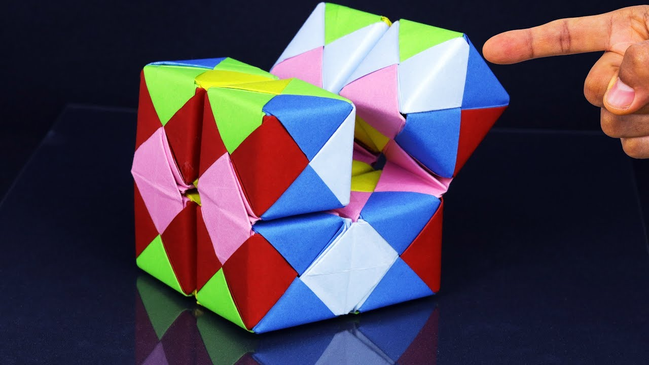 How to Fold an DIY : Origami 3D Cube - YouTube | 720x1280