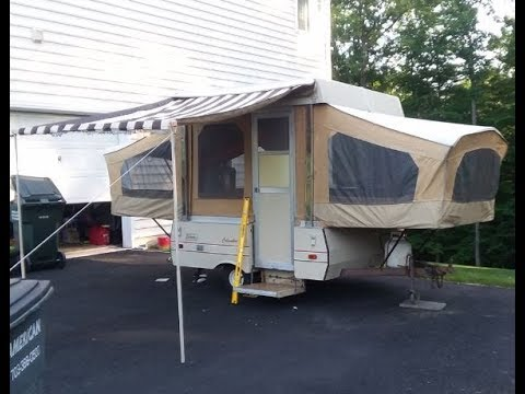 Coleman Columbia Pop Up Camper Renovation Project It Begins