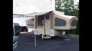 Coleman Columbia Pop Up Camper Renovation Project It Begins Youtube