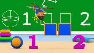 Уроки з Винтиком 3D Розвиваючі мультфільми - Цифри – 1 і 2