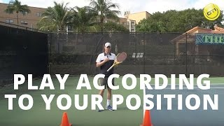 Play According To Your Position - Online Tennis Instruction