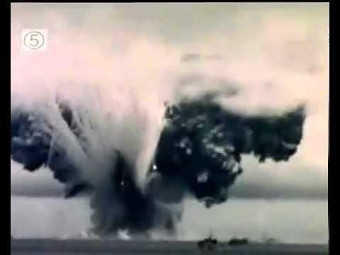 Footage of kamikaze attack on the ammunition ship USS John B