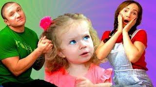 Play with family Song . Story for Kids by Sasha.Baby and parents sing and pretend play