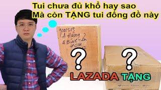 Mở hộp 2 THÙNG QUÀ Khổng Lồ bí ẩn từ LAZADA. Sao lại Tặng  tui những món này :(( - MUA HÀNG ONLINE
