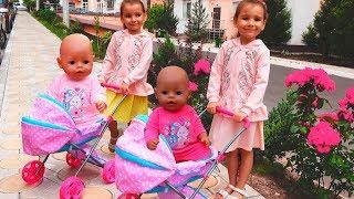Куклы Настя и Видео для детей Как Мама с куклами Беби Бон / Magic Twins