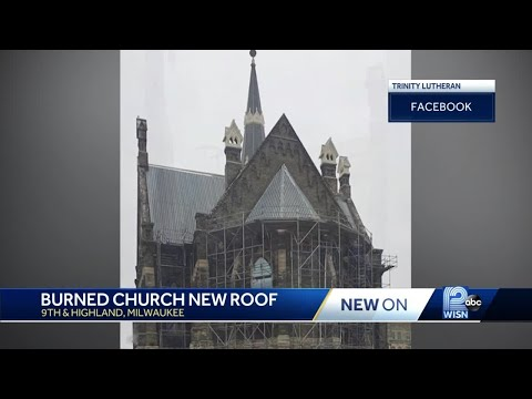 New Steel Roof Under Construction At Trinity Lutheran Church