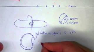 Exercice 6.5 : force sur les hublots d